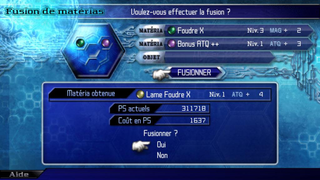 crisis core fusion matéria