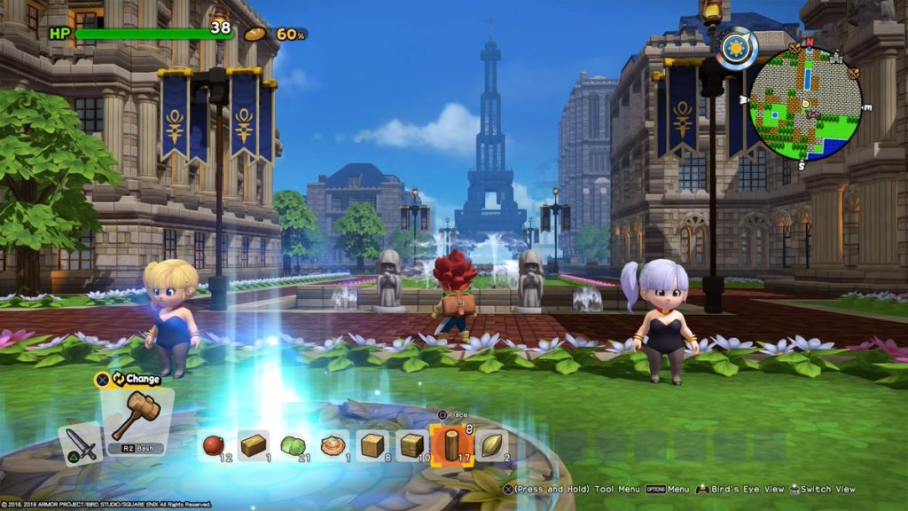 dragon quest builders 2 - tour eiffel